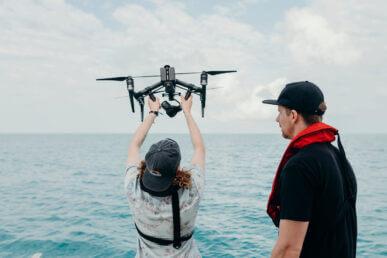 DJI Inspire 2 drone filming